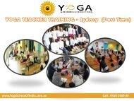 YOGA TEACHER TRAINING- Sydney(Part Time)