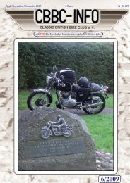 Kalender 2010 - CBBC - Classic British Bike Club