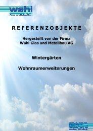 Katalog Wintergärten