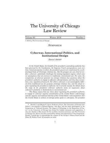 The University of Chicago Law Review