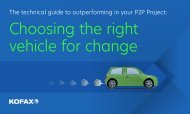 Choosing the right vehicle for change