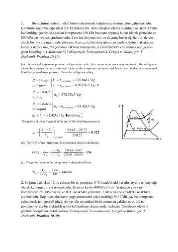 Termodinamik 2 (Çözümlü Örnek Problemler - 38 Soru)