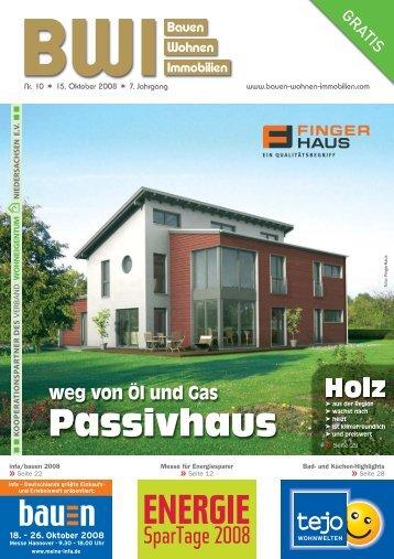Passivhaus - Bauen Wohnen Immobilien