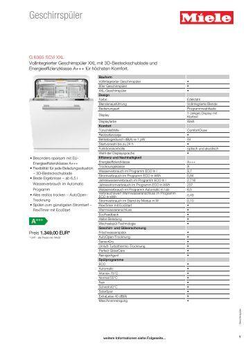 Miele g 2872 scvi user manual