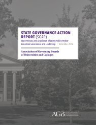 STATE GOVERNANCE ACTION REPORT (SGAR)