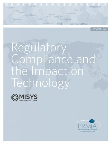 Regulatory Compliance and the Impact on Technology