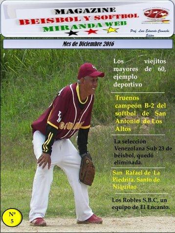 Magazine beisbol y Softbol Miranda Diciembre 2016