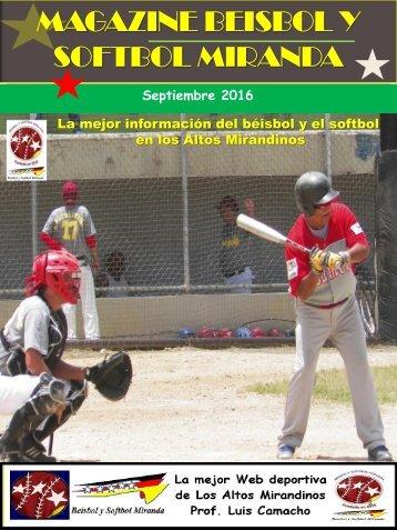 Magazine beisbol y Softbol Miranda Septiembre 2016