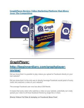 GraphPlayer review & GraphPlayer $22,600 bonus-discount