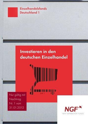 Prospekt EHF1 + 1. Nachtrag - NGF Next Generation Funds ...