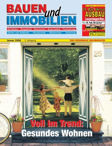 Voll im Trend: Gesundes Wohnen - Bauen Wohnen Immobilien