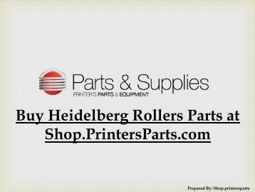 Buy-Heidelberg Rollers-Parts-at-Shop.PrintersParts