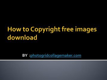 How to Copyright free images download