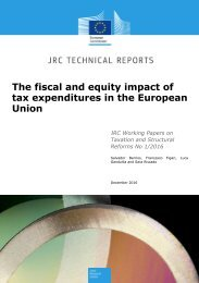 The fiscal and equity impact of tax expenditures in the European Union