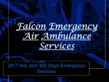 Falcon Emergency Low Cost Air Ambulance Services in Siliguri-Dibrugarh