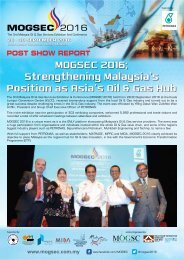 MOGSEC 2016 Strengthening Malaysia's Position as Asia's Oil & Gas Hub
