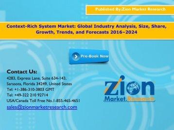 Context-Rich System Market, 2016 – 2024