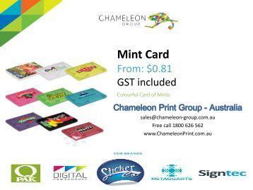 Mint Card - Chameleon Print Group