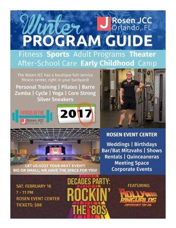 Rosen JCC - Winter Program Guide 2017