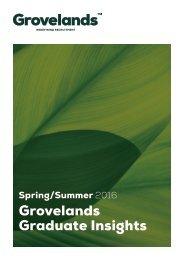 Grovelands Graduate Insights - Spring Summer 2016