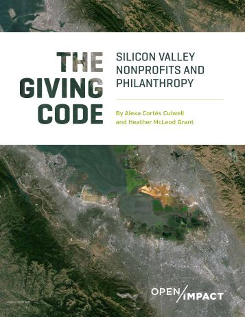SILICON VALLEY NONPROFITS AND PHILANTHROPY