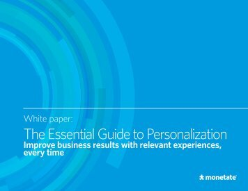 The Essential Guide to Personalization