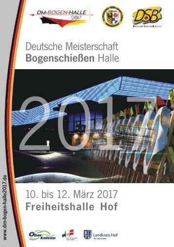Programmheft zur Deutschen Meisterschaft Bogen Halle 2017