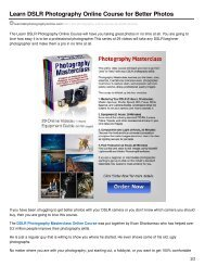 Learn DSLR Photography Online Course for Better Photos