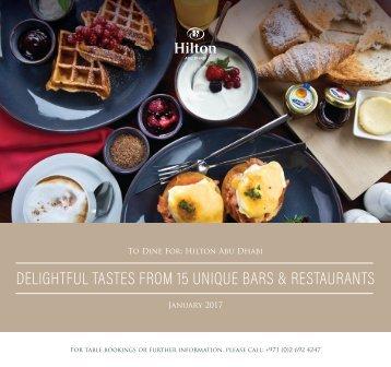 Hilton Abu Dhabi January 2017 offers