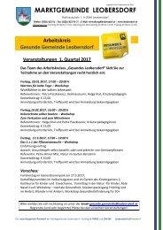 Postwurf Jänner 2017 / Marktgemeinde Leobersdorf