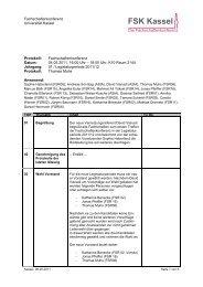 Protokoll FSK - AStA Universität Kassel