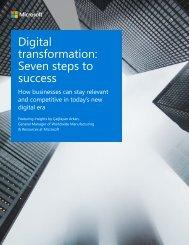 Digital transformation Seven steps to success