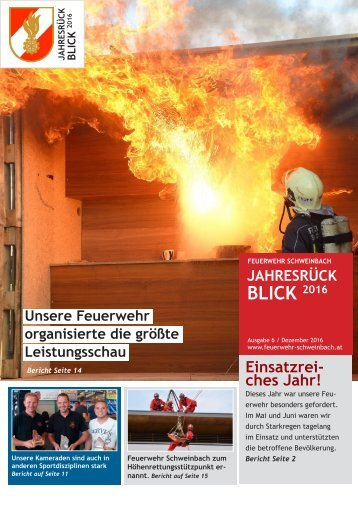 Jahresrückblick 2016 der Feuerwehr Schweinbach