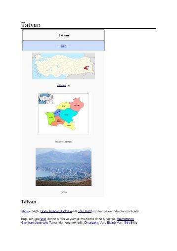 Bitlis .Tatvan