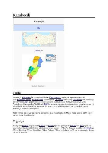 Kırıkkale .Karakeçili