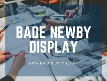 Window Stickers and Decals - Bade Newby