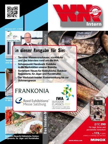 WM-Intern, Insider Magazin für Jagd, Messer, Schießsport & Security. 01/2017