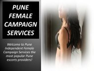 Enjoy  female campaign at Pune with swati loomba Pune Escorts Models