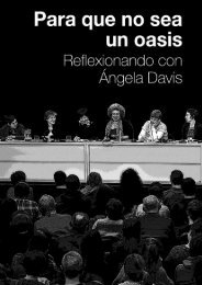Para que no sea un oasis... Reflexionando con Ángela Davis