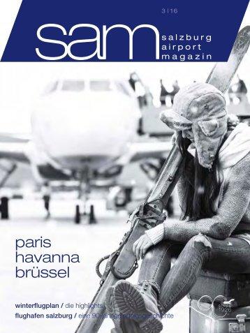 Salzburg Airport Magazin SAM 2016-03