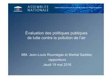 Évaluation des politiques publiques de lutte contre la pollution de l'air