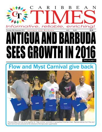 Caribbean Times 65th Issue - Thursday 29th December 2016