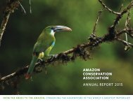 AMAZON CONSERVATION ASSOCIATION ANNUAL REPORT 2015
