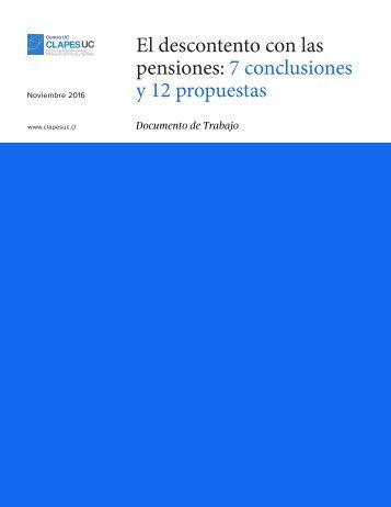 El descontento con las pensiones 7 conclusiones y 12 propuestas