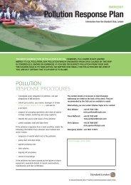 Emergency pollution response plan - The Standard Club