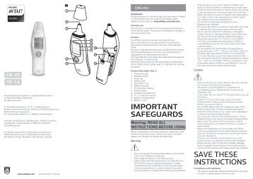 philips thermometer user manual
