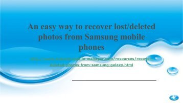 How to Recover Deleted Photos from Samsung Galaxy phone