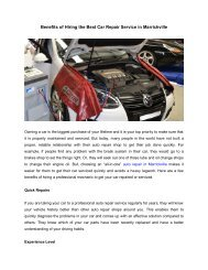 Benefits of Hiring the Best Car Repair Service in Marrickville