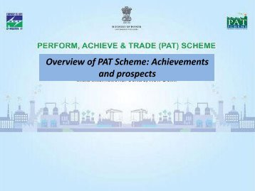 Overview of PAT Scheme Achievements and prospects