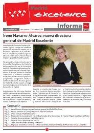 Irene Navarro Álvarez nueva directora general de Madrid Excelente